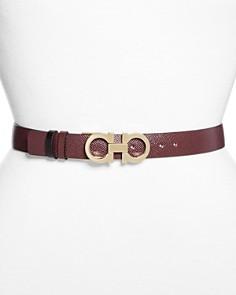 Salvatore Ferragamo Gancini Leather Belt - Bloomingdale's_0