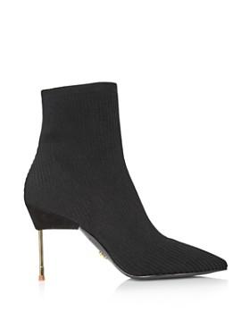 Kurt Geiger - Women's Barbican Pointed Toe Knit Booties