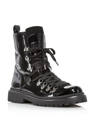 Berenice Patent Leather Hiker Boots