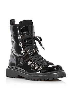 Moncler - Women's Berenice Patent Leather Hiker Boots