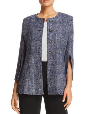 Misook Metallic Slit-Sleeve Jacket