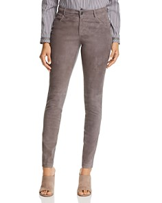 Lafayette 148 New York - Mercer Suede-Front Skinny Pants