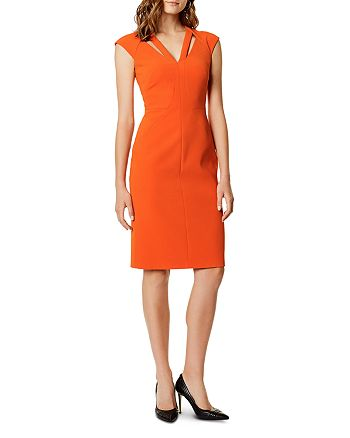 KAREN MILLEN - Cutout Seamed Sheath Dress