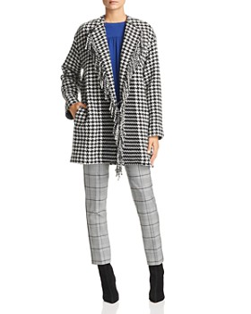 Marella - Fringed Houndstooth Coat