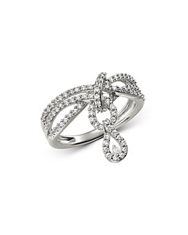 Bloomingdale's - Diamond Teardrop Drop Charm Ring in 14K White Gold, 0.50 ct. t.w. - 100% Exclusive