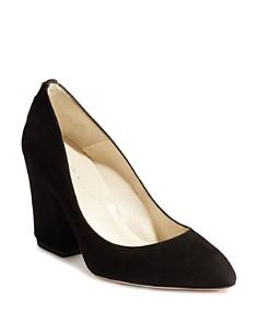 KAREN MILLEN - Women's Almond Toe Stud-Embellished Leather High-Heel Pumps