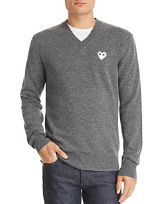 Comme Des Garcons PLAY - Heart Appliqué Pullover Sweater