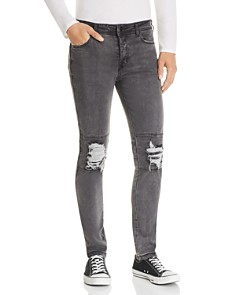 nANA jUDY - Legacy Destroyed Slim Fit Jeans in Black Brushed