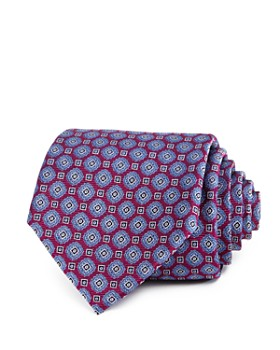 The Men's Store at Bloomingdale's - Geometric Medallion Silk Classic Tie - 100% Exclusive