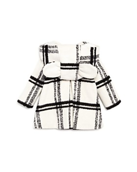 Bardot Junior - Girls' Plaid Coat with Bunny Ears - Little Kid