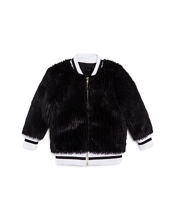 Sovereign Code - Girls' Faux-Fur Bomber Jacket - Little Kid