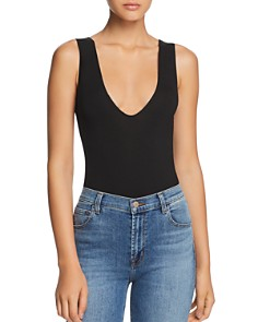 Little Black Bodysuit - Inessa Scoop-Neck Bodysuit