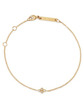 Zoë Chicco - 14K Yellow Gold Tiny Quad Diamond Adjustable Bracelet