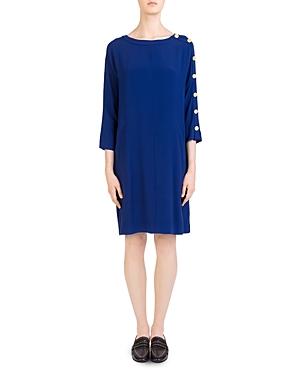 Gerard Darel Anais Button-Sleeve Dress