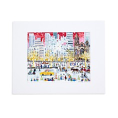 "Michael Storrings Christmas on Fifth Avenue Print, 11"" x 14"" - Bloomingdale's_0"