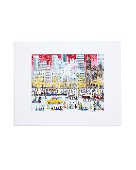 "Michael Storrings -  Christmas on Fifth Avenue Print, 11"" x 14"""