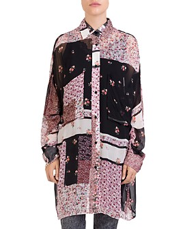 The Kooples - Patchwork-Print Tunic Shirt