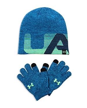 Under Armour Boys' Beanie & Tech Gloves Set