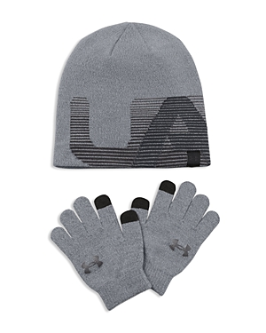 Under Armour Boys' Beanie & Tech Gloves Set