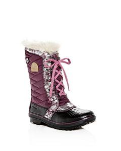 b302fa61728 Sorel Girls  Lexie Waterproof Leather Hidden Wedge Booties - Little ...