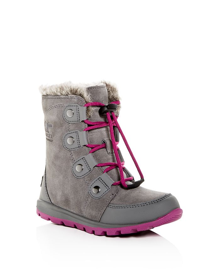 Sorel - Girls' Whitney Waterproof Suede Cold-Weather Boots - Little Kid, Big Kid