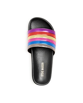 STEVE MADDEN - Girls' Cambi Rainbow Pool Slide Sandals - Little Kid, Big Kid