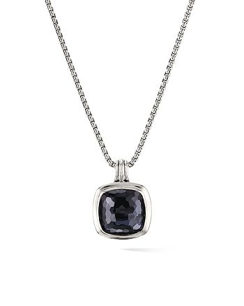 David Yurman - Albion Pendant in Sterling Silver with Black Orchid