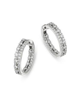 Bloomingdale's - Diamond Inside Out Hoop Earrings in 14K White Gold, 2.0 ct. t.w. - 100% Exclusive