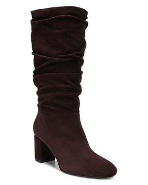 Women'S Naren Suede Tall Slouch Boots in Port