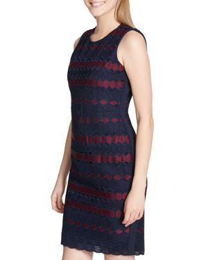 Calvin Klein Geometric Embroidered Dress