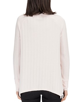 B Collection by Bobeau - Lana Cowl Neck Ribbed Top