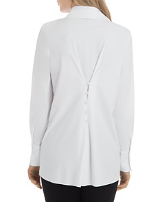 Lyssé - Faux-Pearl-Trim Tunic Shirt
