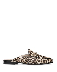 Sam Edelman - Women's Linnie Leopard Print Calf Hair Mules