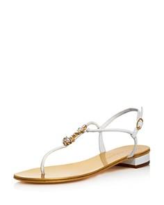 Giuseppe Zanotti - Women's Anchor Pendant Thong Sandals