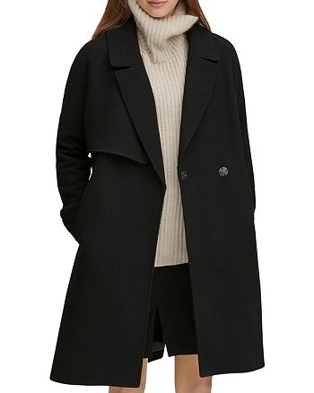 Andrew Marc - Sculpted Twill Notched Collar Coat