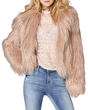 SAGE Collective Glacier Faux Fur Jacket in Powder Puff