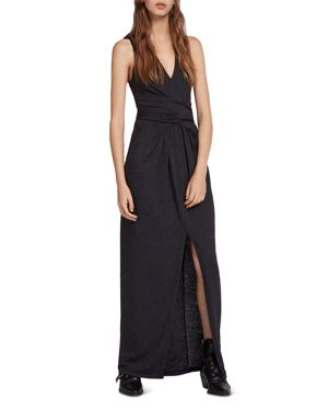 Elke Tie-Detail Maxi Dress, Dark Night Blue