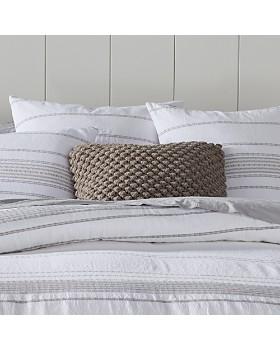 Coyuchi - Organic Cotton Alpine White Rippled Stripe Bedding Collection