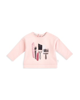 Miles Baby - Girls' French Terry Paintbrush Top - Baby
