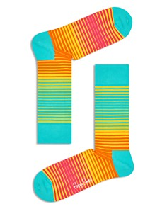 Happy Socks Sunrise Variegated-Stripe Socks - Bloomingdale's_0