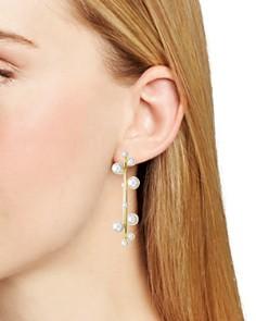 Rebecca Minkoff - Floating Simulated Pearl Hoop Earrings