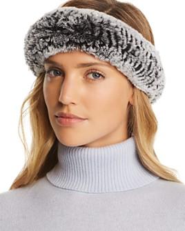 Maximilian Furs - Knit Rex Rabbit Fur Headband
