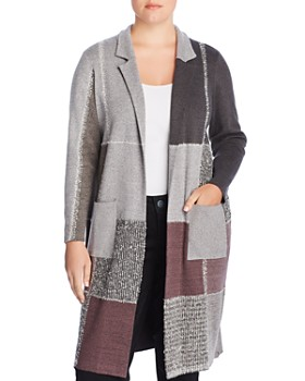 NIC and ZOE Plus - Patchwork Duster Cardigan