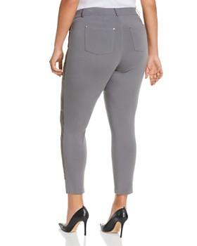 Lafayette 148 New York Plus - Mercer Suede-Front Skinny Pants