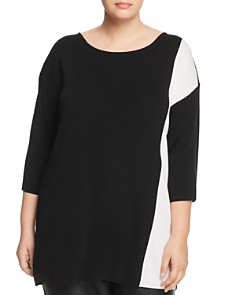 Eileen Fisher Plus - Color Block Sweater