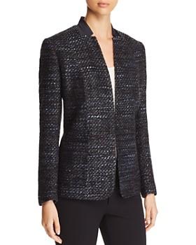 Elie Tahari - Tori Metallic Tweed Blazer