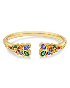 Temple St. Clair - 18K Yellow Gold Oasis Bella Ruby, Tanzanite, Tsavorite & Spessartite Garnet Bangle Bracelet