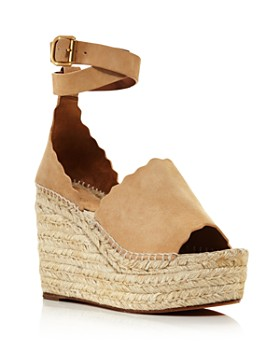 Chloé - Women's Lauren Espadrille Platform Wedge Sandals