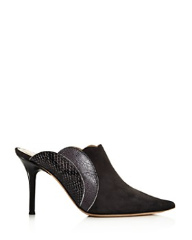 Chloé - Women's Lauren Suede & Embossed Leather High-Heel Mules