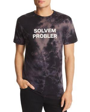 ALTRU Solvem Probler Tie-Dyed Graphic Tee in Soft Black Wash